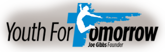 Youth For Tomorrow Joe Gibbs Founder Logo